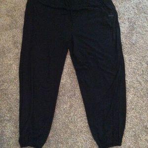 Black drawstring jogging pants, worn once
